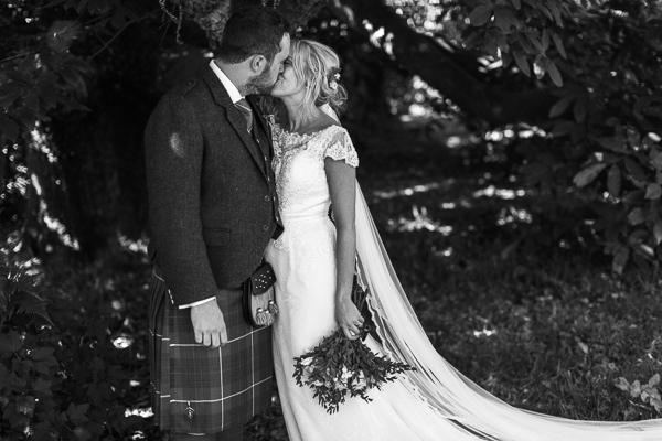 black & white wedding photos loch lomond