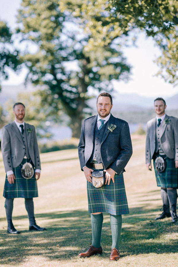 groom and his grooms party loch lomond