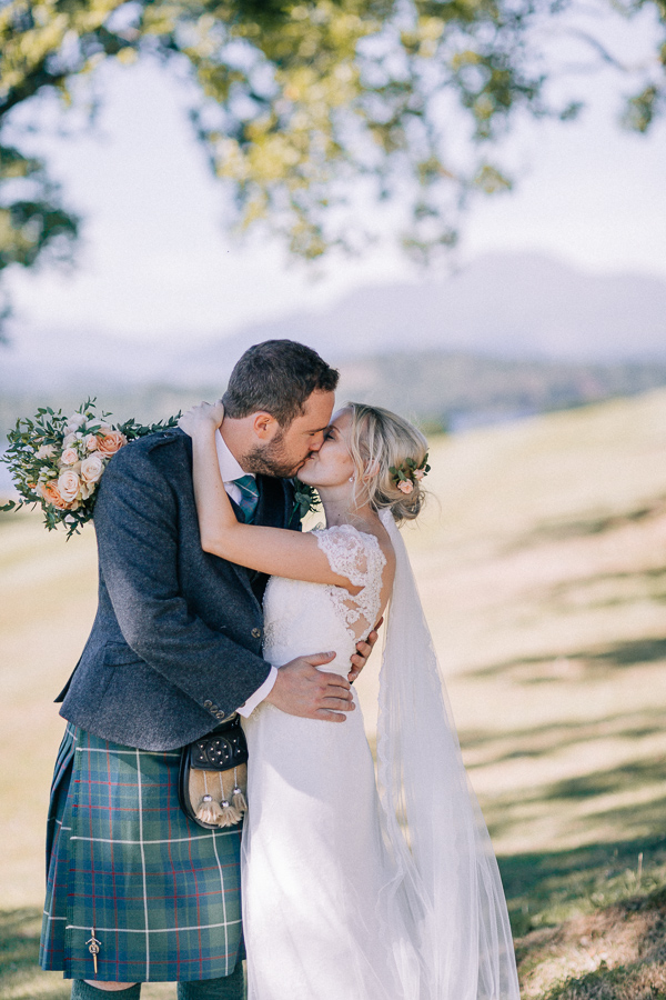 lovely couple at the castle loch lomond
