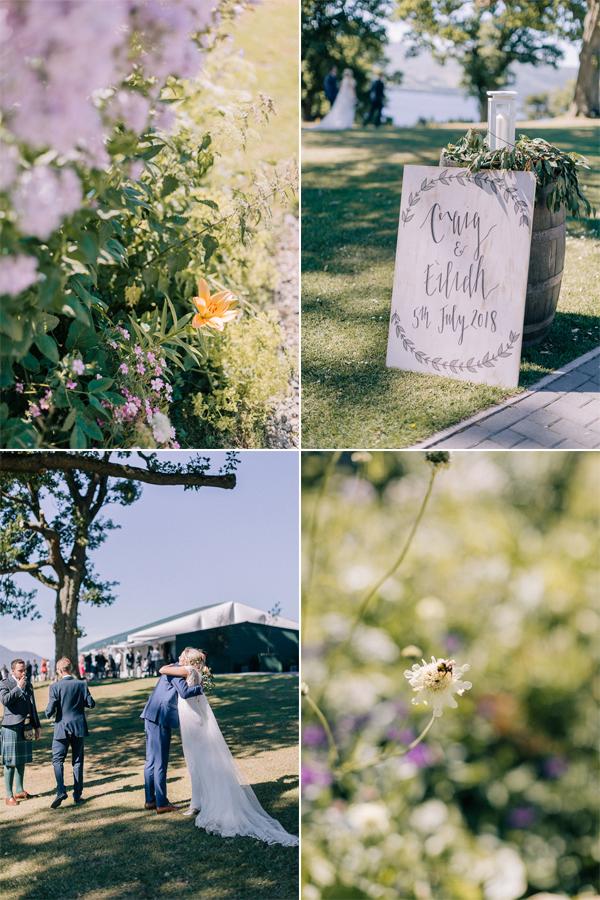 summer wedding and props loch lomond