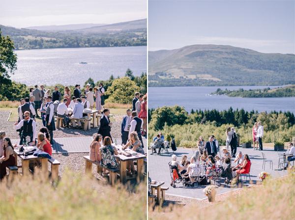 summer wedding at the castle loch lomond