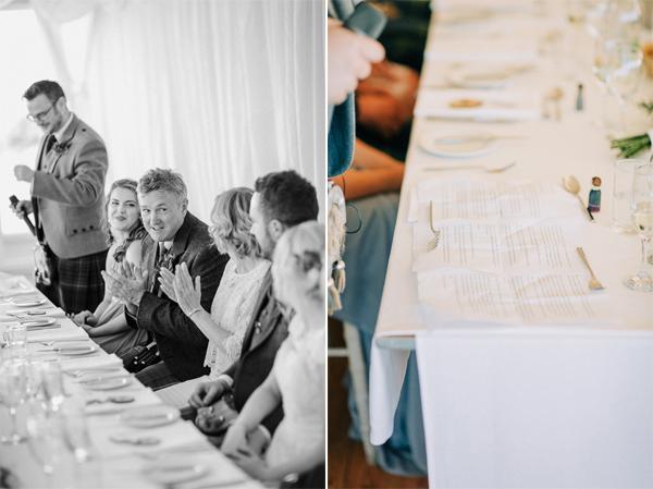 speeches at the wedding on loch lomond