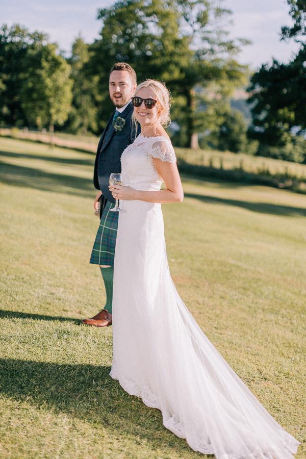 wedding evenng shots at loch lomondd