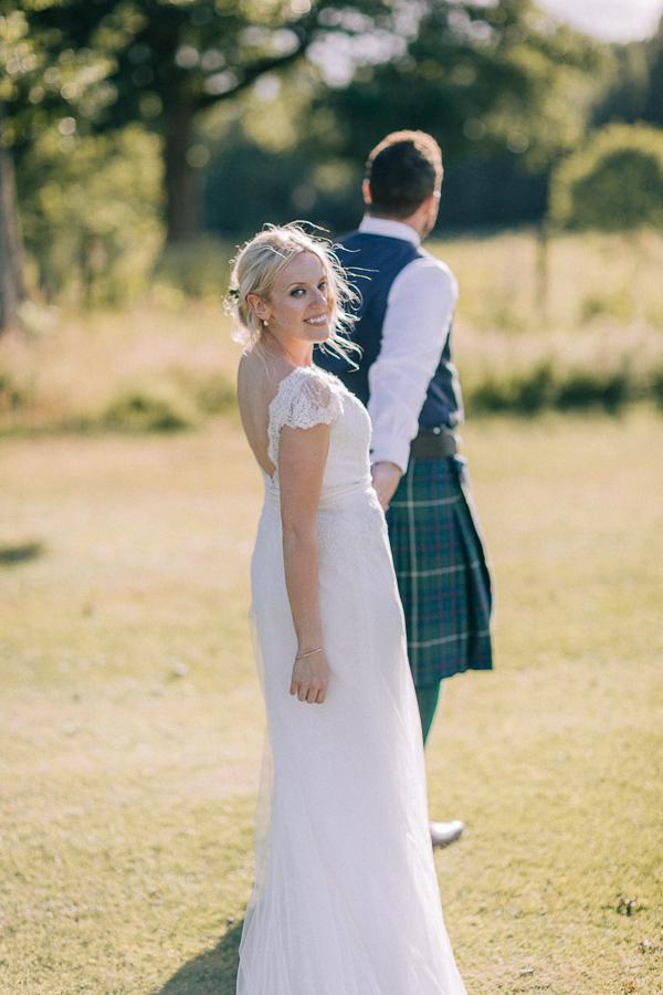 beautiful bride at the field loch lomond