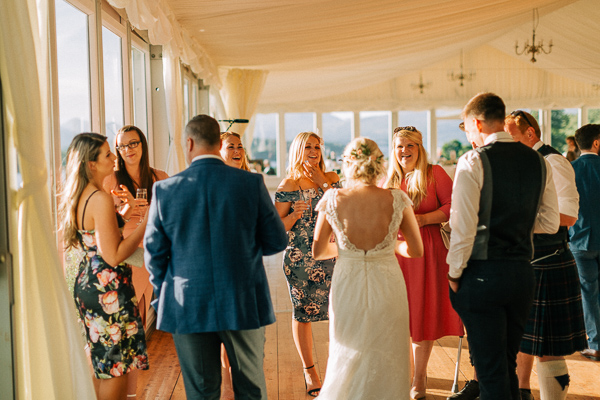 evening chat at the wedding
