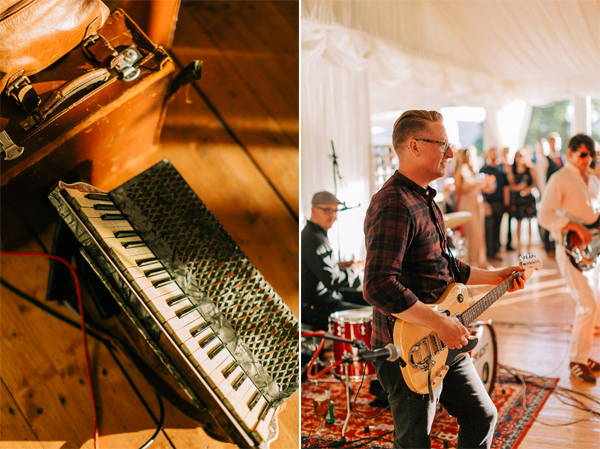 acordion at the wedding