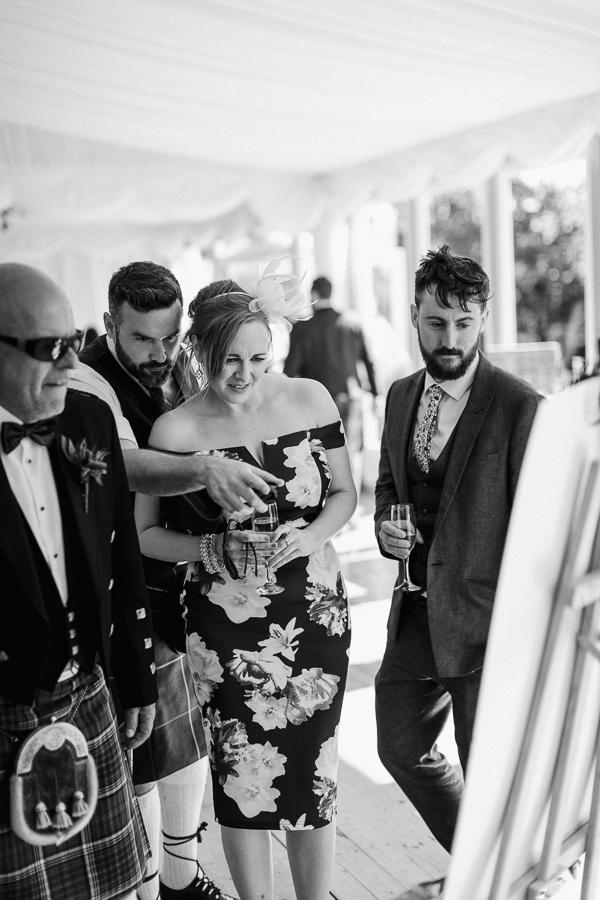 wedding at the castle loch lomond
