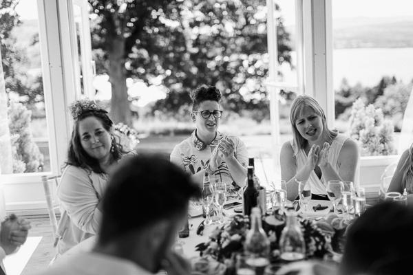 random guests at the wedding loch lomond