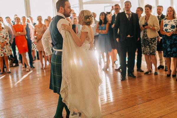 wedding couple first dance loch lomond