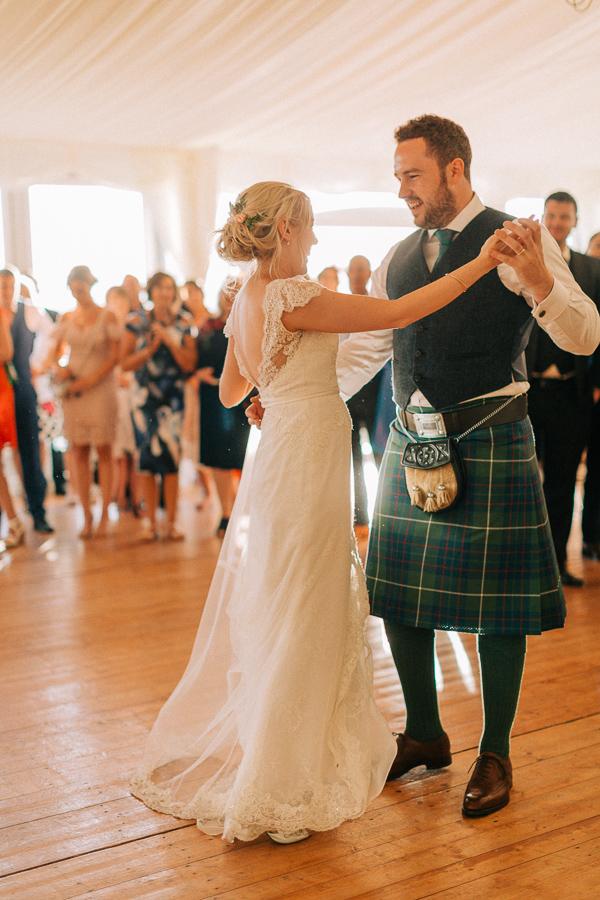 first dance at hte castle loch lomond