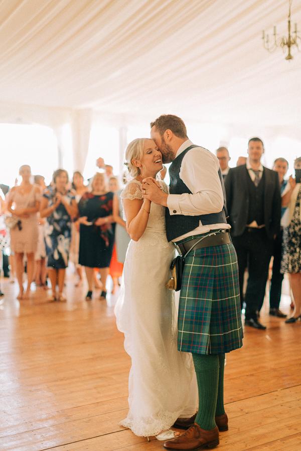 wedding coupel first dance loch lomond
