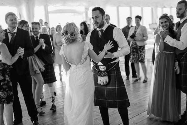 dancing at the wedding loch lomond