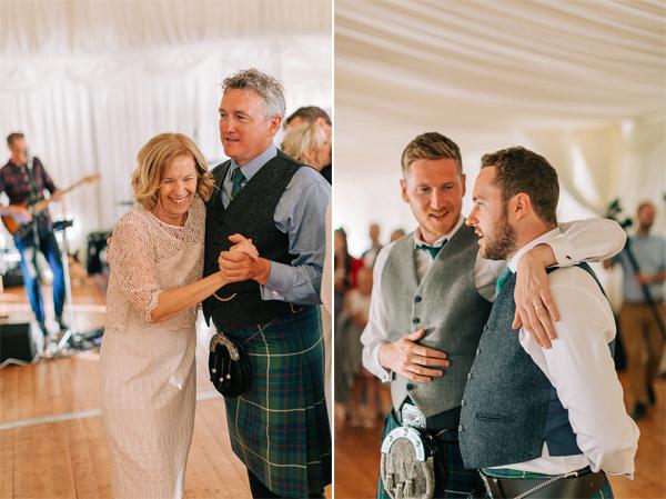 evening reception at the wedding loch lomond
