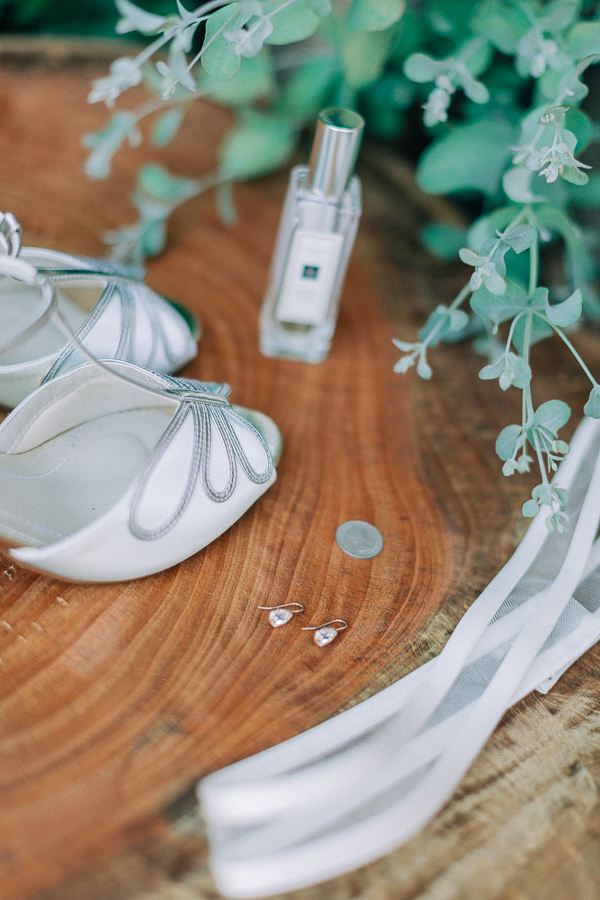 wedding shoes and perfumes for a wedding