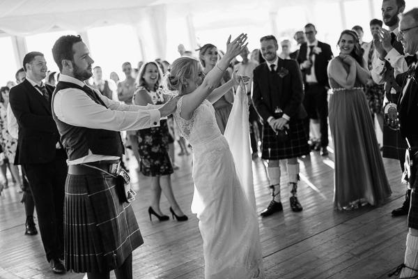 evening dancing at the wedding loch lomond