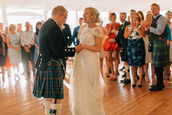 father and daughter dance loch lomond
