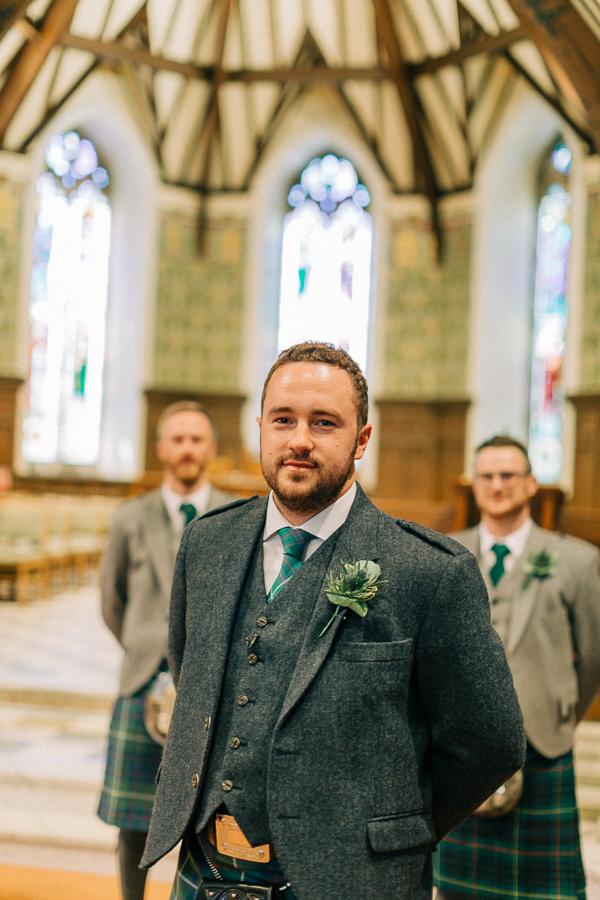 groom at the helensburgh parish church