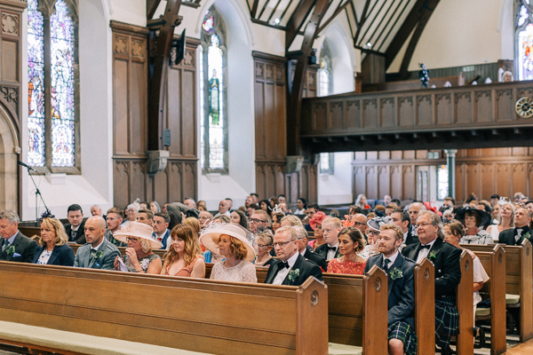 guests sitting in the parish church in helensburgh