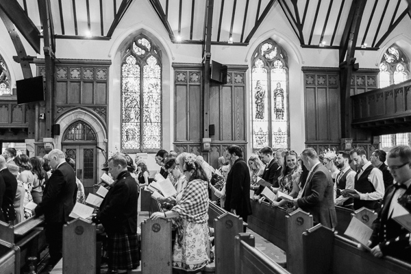 guests singing in helensburgh parish church