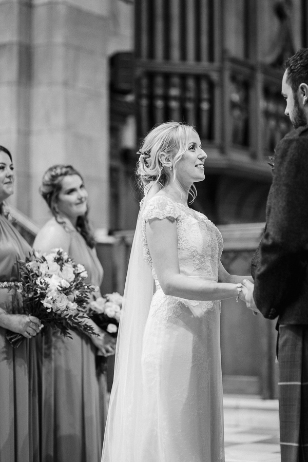 vows at the ceremony in parish church helensburgh