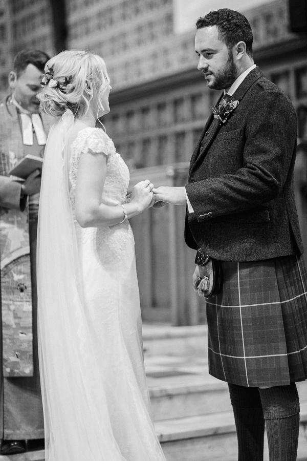 exchanging vows parish church helensburgh