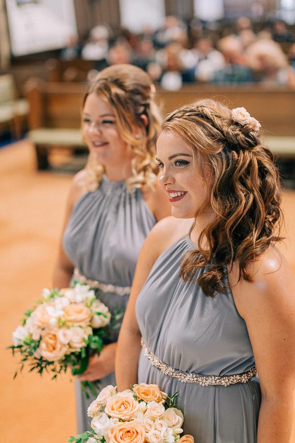 bridesmaids at the parish church helensburgh