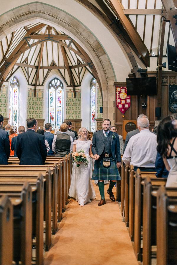 walking back down the aisle helensburgh parish church