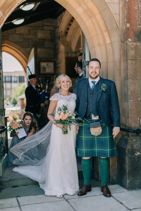 potrait of the couple helensburgh parish church