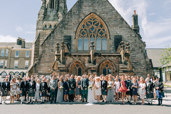 group shot outside of parish church in helensburgh