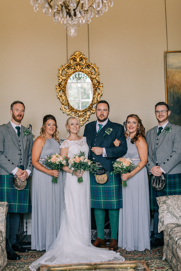 bridal party in the castle loch lomond