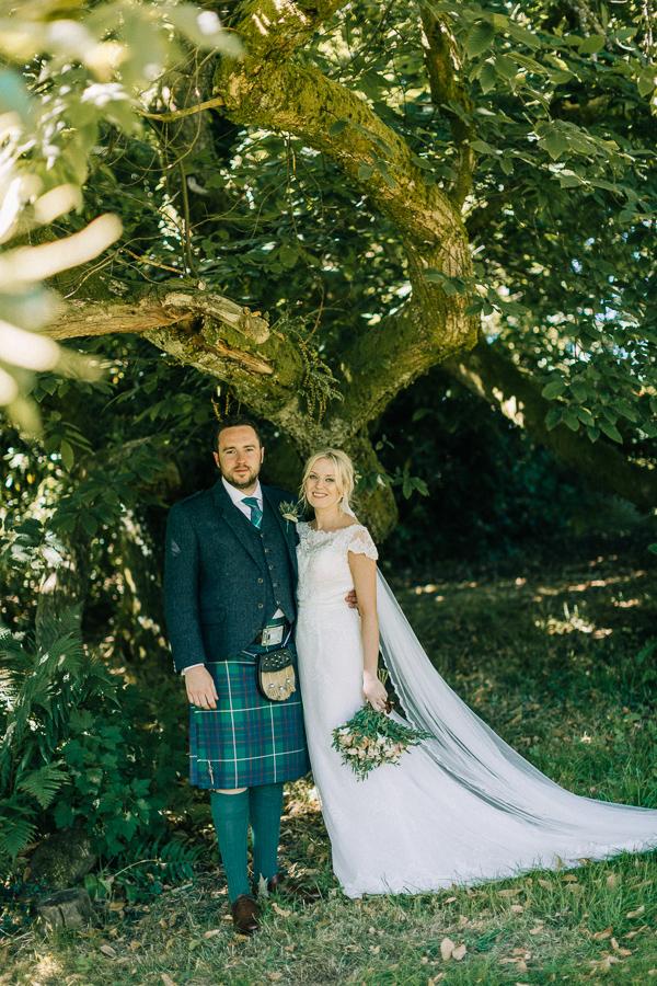 wedding shots by the tree loch lomond