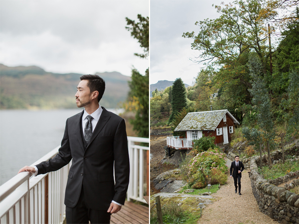 wedding photos the lodge on loch goil groom ready