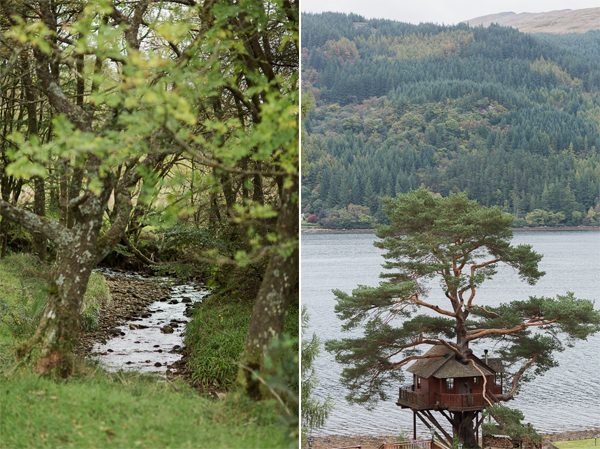 stream and tree house at loch goil