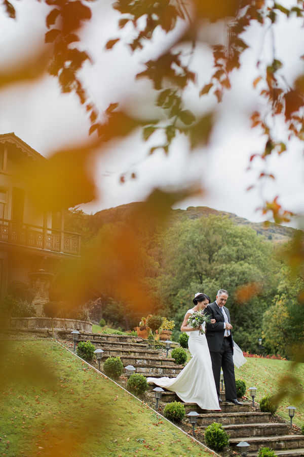 wedding photos the lodge on loch goil fotogenic of scotland father and bride