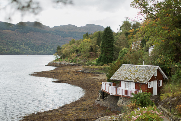 summer house suspended over water at loch goil
