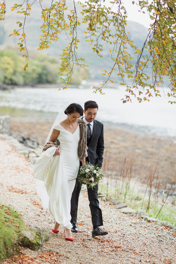 autumn wedding at the lodge on loch goil fotogenic of scotland