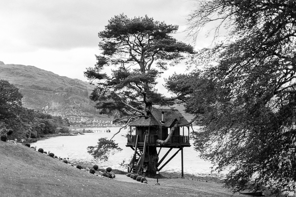 tree house at the lodeg on loch goil