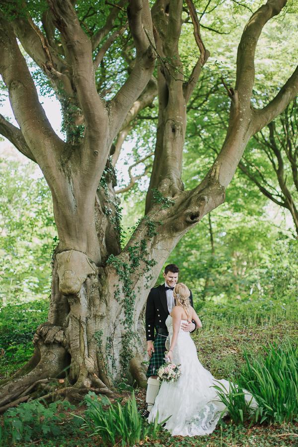 lochgreen wedding photos fotogenic of scotland bride and groom embraced