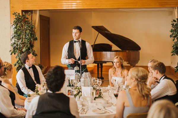speeches at lochgreen wedding photos scotland