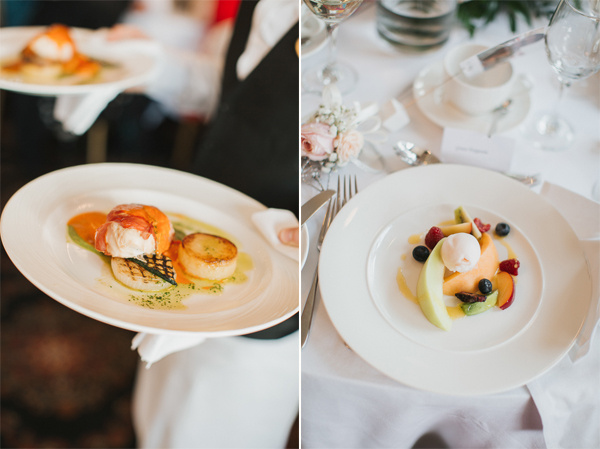 wedding meal at lochgreen