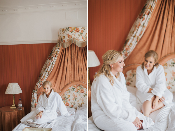 bride and her bridesmate during preparations at lochgreen hotel