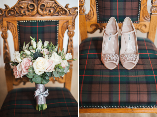 flowers and wedding shoes scotland photographer