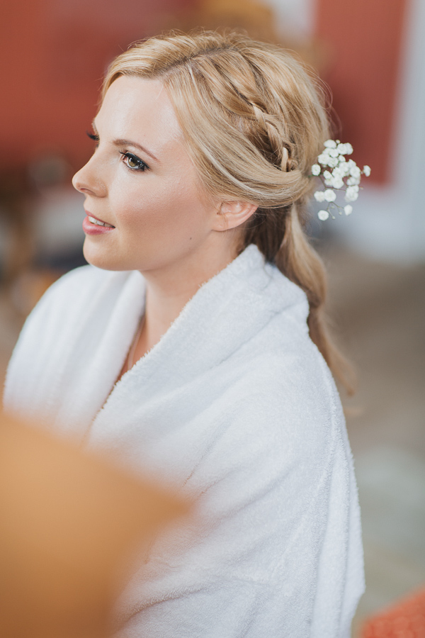 bride during preparations in ayrshire