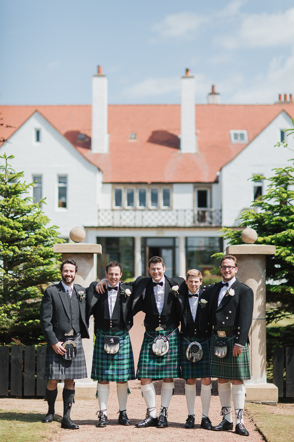 groom and his friends at the ayrshire wedding venue