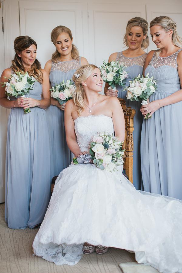 lochgreen wedding photographer bride with her bridesmates