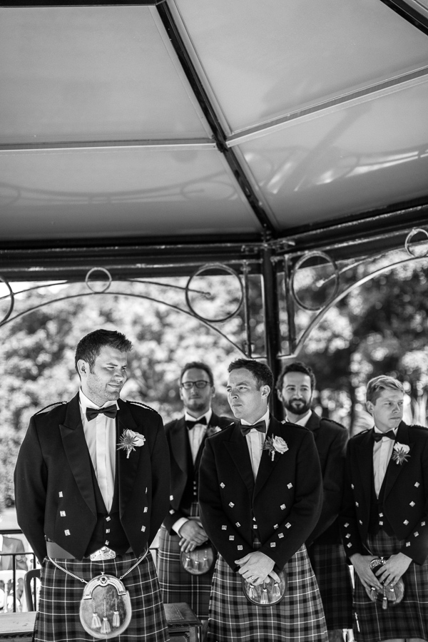 groom waiting with his men