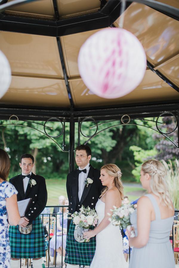 lochgreen wedding photographer ceremony outside