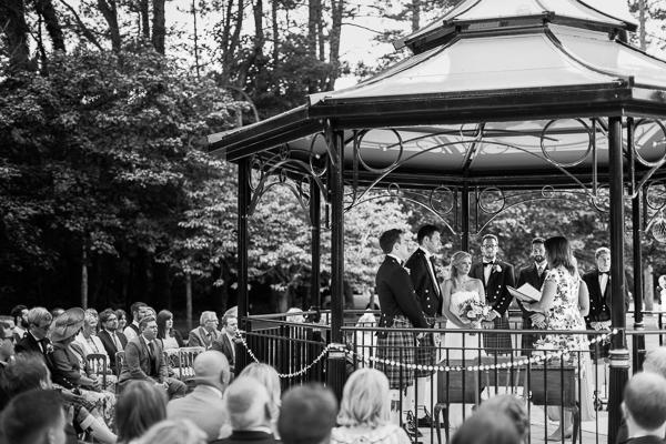 wedding ceremony in a gazebo