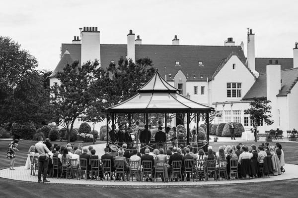 ceremony outside lochgreen hotel troon scotland