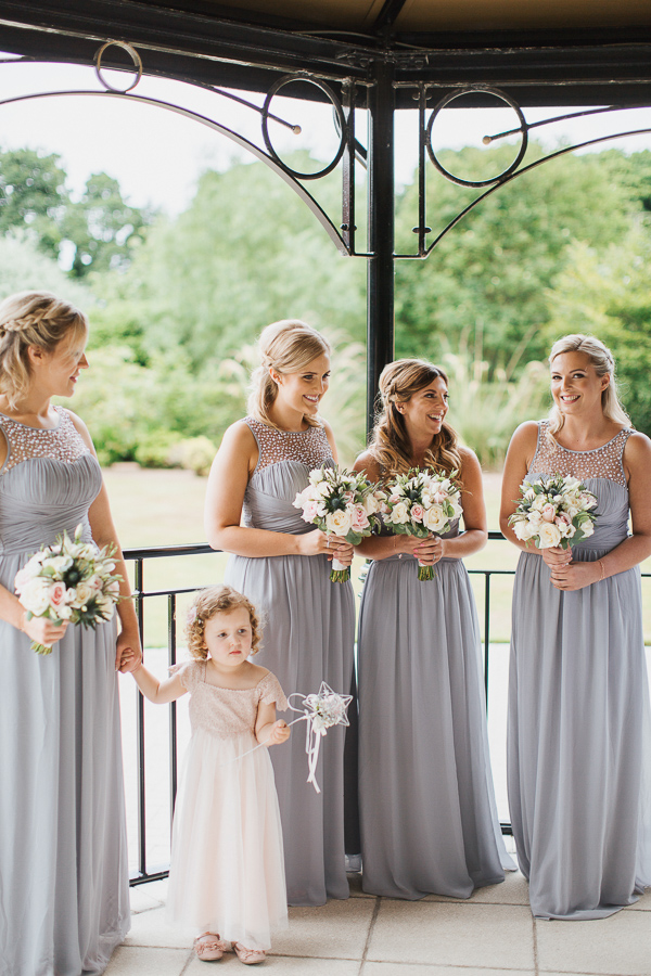 bridal party at ceremony